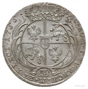 ort 1755, Lipsk; Kahnt 688 var. d - masywne popiersie w...