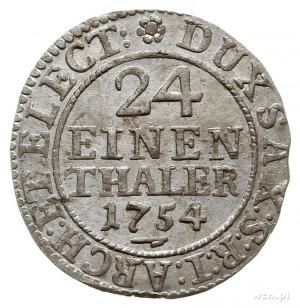 1/24 talara 1754 FWôF, Drezno; Kahnt 580; piękna