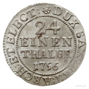 1/24 talara 1756 FWôF, Drezno; Kahnt 580; pięknie zacho...