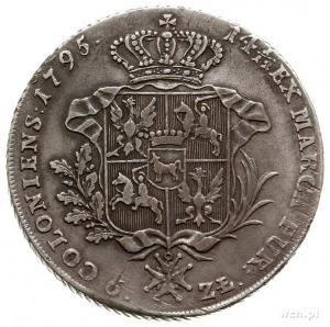 talar 1795, Warszawa; srebro 24.09 g; Plage 374, Dav. 1...