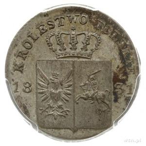 10 groszy 1831, Warszawa, odmiana z prostymi łapami Orł...