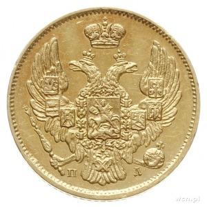 3 ruble = 20 złotych 1834 П-Д / СПБ, Petersburg; złoto ...