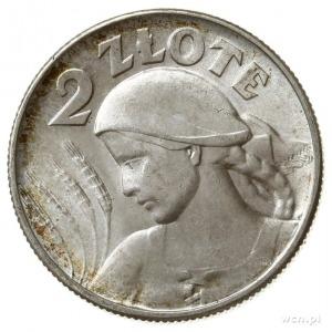 """2 złote 1925 """"kropka po dacie"""", Londyn, głowa kobiety z..."""