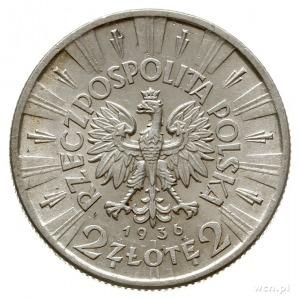 2 złote 1936, Warszawa, Józef Piłsudski; Parchimowicz 1...