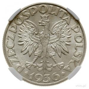 2 złote 1936, Warszawa, Żaglowiec; Parchimowicz 112; wy...