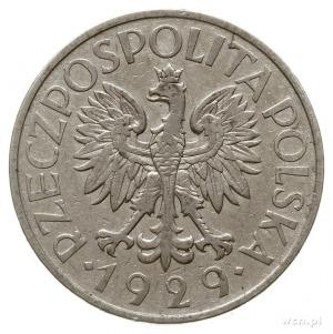 """1 złoty 1929, Warszawa, moneta bez znaku mennicy """"Kości..."""