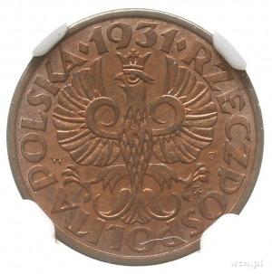 1 grosz 1931, Warszawa; Parchimowicz 101e; idealnie zac...
