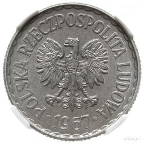 1 złoty 1967, Warszawa, aluminium, Parchimowicz 213d; r...