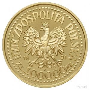 100.000 złotych 1991, Warszawa, Jan Paweł II na tle ołt...