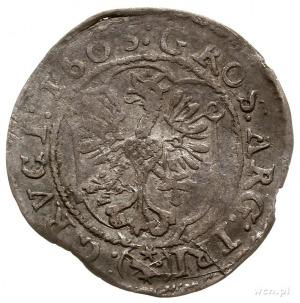 3 krajcary 1603, Cieszyn, ciekawy wariant z datą po obu...