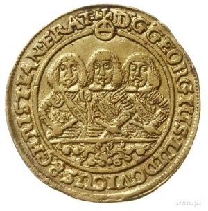dukat 1661, Brzeg, Aw: Półpostacie trzech braci i napis...