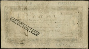 1 talar 1.12.1810; podpis komisarza S. Ossoliński, lite...