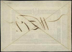50 złotych 1824; wzór strony głównej na kremowym papier...