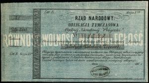Rząd Narodowy, Ogólna Narodowa Pożyczka; obligacja tymc...