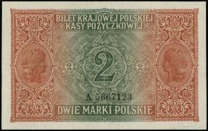 2 marki polskie 9.12.1916; jenerał, seria A, numeracja ...