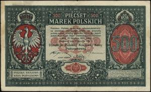 500 marek polskich 15.01.1919; numeracja 677705; Lucow ...