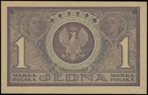 1 marka polska 17.05.1919; seria ICN, numeracja 333548;...