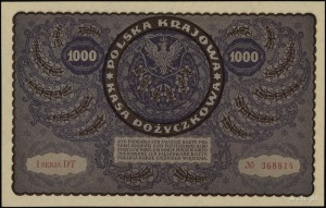 1.000 marek polskich 23.08.1919; seria I-DT, numeracja ...
