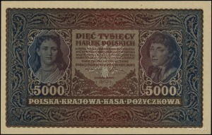5.000 marek polskich 7.02.1920; seria II-AH, numeracja ...