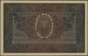 5.000 marek polskich 7.02.1920; seria III-Z, numeracja ...