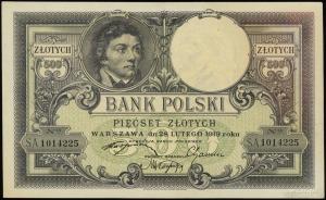 500 złotych 28.02.1919; seria A, numeracja 1014225, błą...
