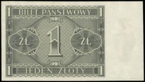 1 złoty 1.10.1938; seria IL, numeracja 8711621; Lucow 7...