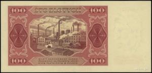 100 złotych 1.07.1948; seria GG, numeracja 8936280, bez...