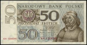 50 złotych 2.01.1964; seria KH, numeracja 1204395, 132 ...
