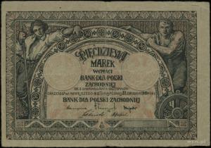 Bank dla Polski Zachodniej; 50 marek, ważne do 31.12.19...
