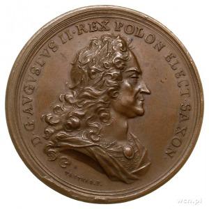 August II - medal 1730, sygnowany VESTNER F, wybity dla...