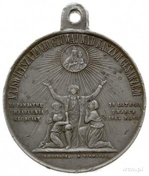 Aleksander II, - medal z uszkiem sygnowany na awersie H...