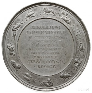 Mikołaj Kopernik, medal na 400-lecie urodzin, 1873 r., ...