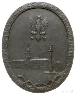 medal jednostronny z okazji proklamacji Królestwa Polsk...