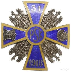 oficerska odznaka pamiątkowa 31 Pułku Strzelców Kaniows...