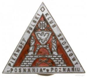 odznaka Klubu Sportowego Posnania, jednoczęściowa w ksz...