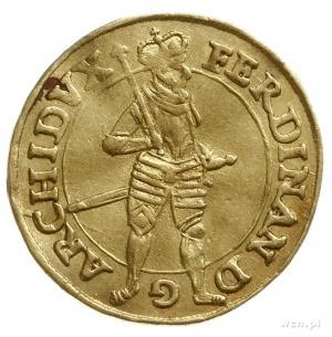 dukat 1617, Graz; Aw: Arcyksiążęz berłem stojący na wp...