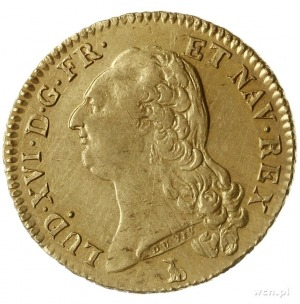 podwójny louis d'or au buste nu 1786 T, Nantes; Fr. 474...