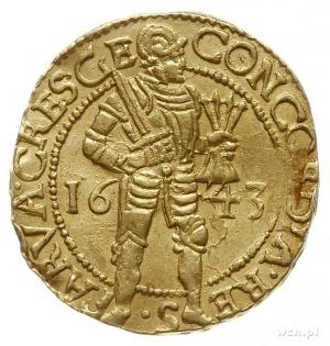 dukat 1643; Fr. 237, Purmer Ge46, Delm. 649; złoto 3.48...