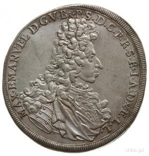 talar 1694, Monachium; Aw: Popiersie księcia w prawo; R...