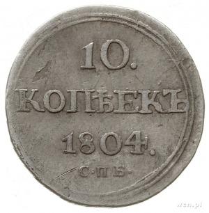 10 kopiejek 1804 СПБ ФГ, Petersburg; Bitkin 64 (R), Adr...