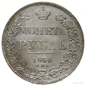 rubel 1839 / 1840 СПБ НГ, Petersburg; na obrzeżu СЕР 83...