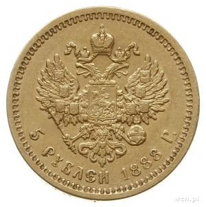 5 rubli 1888 (А.Г), Petersburg; odmiana z długąbrodą c...