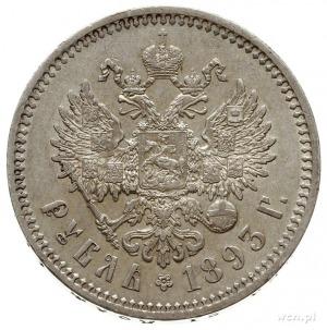 rubel 1893 (А.Г), Petersburg; odmiana z długą brodą car...