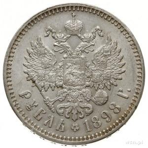 rubel 1898 **, Bruksela; Bitkin 204, Kazakov 118; przyz...