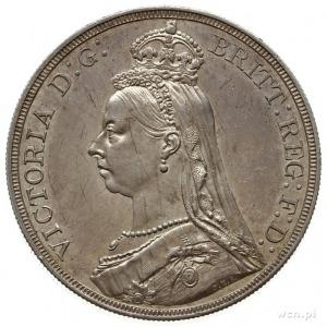1 korona 1887, Londyn; emisja jubileuszowa; Seaby 3921;...