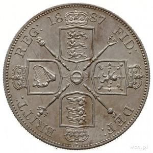 2 floreny 1887, Londyn; emisja jubileuszowa; Seaby 3923...