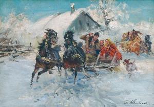 Czesław WASILEWSKI (ok. 1875-1946/1947), Wesoła sanna
