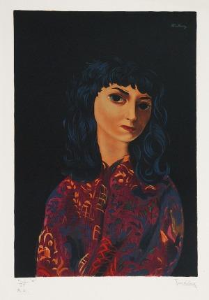 Mojżesz KISLING (1891-1953), Portret brunetki