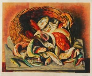 Mojżesz KISLING (1891-1953), Kosz z rybami