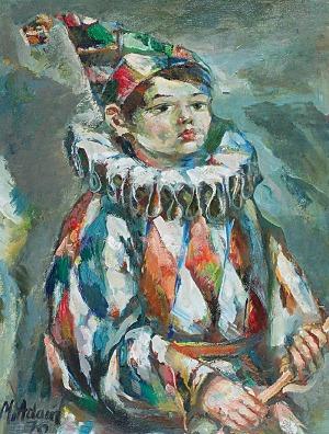 Marian ADAMCZYK (ur. 1938), Pierrot, 1976
